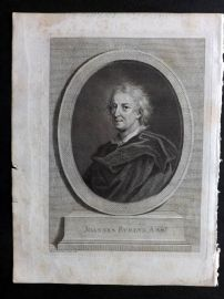 John Evelyn 1786 Portrait of Joannes Evelyn by Bartolozzi